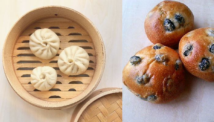 2月酵母応用レッスン(海鮮まん&黒豆パン)