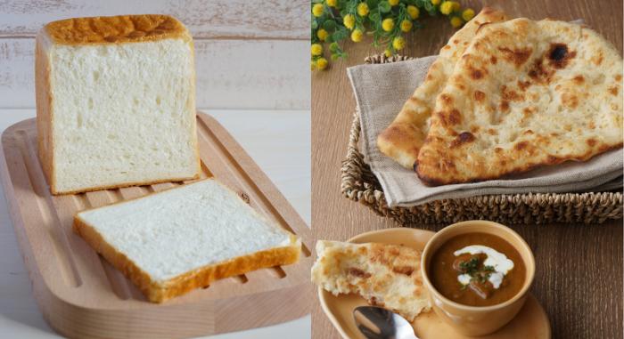 5月、6月酵母応用レッスン(生クリーム食パン&ナン)