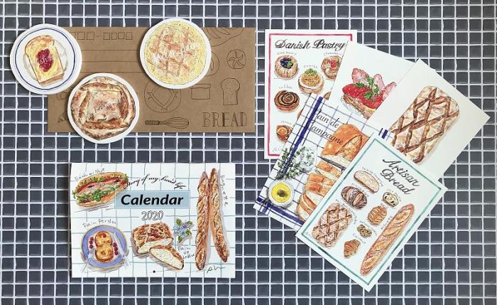 イラストレーター秋山洋子さんの2020年カレンダーが来ました!